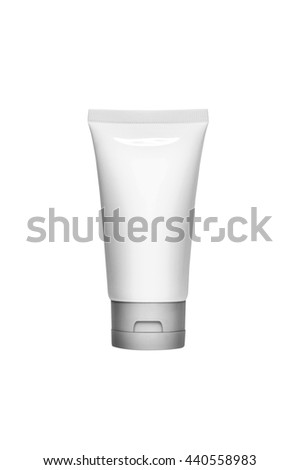 cosmetic containers isolated on white blackground