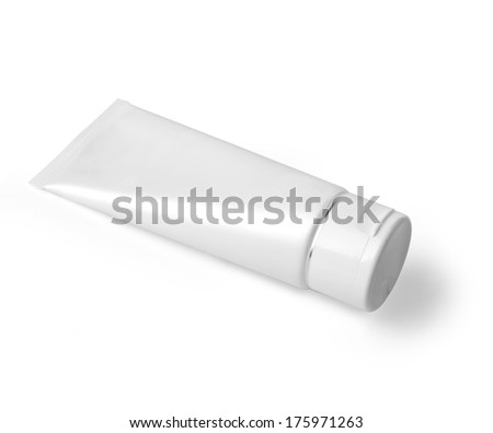 cosmetic containers isolated on white with clipping path