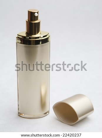 Cosmetic cream container or bottle - stock photo