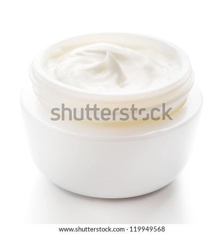 Cosmetic cream for skin care isolated - stock photo