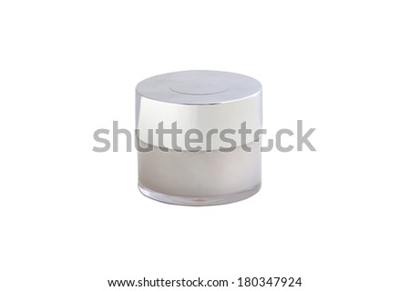 cosmetic cream in a container - stock photo