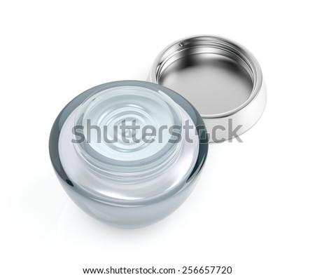Cosmetic cream on white background  - stock photo