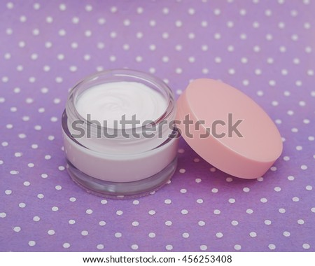 Cosmetic cream  or a body and face - stock photo