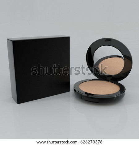 Cosmetic Foundation Powder Tube and Box