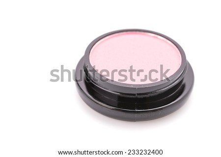 Cosmetic makeup isolated on white