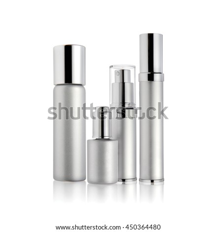 Cosmetic packaging isolated on white