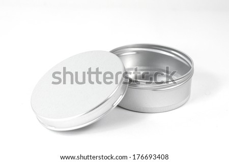 cosmetic pot - stock photo