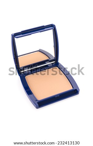 Cosmetic powder isolated on white background