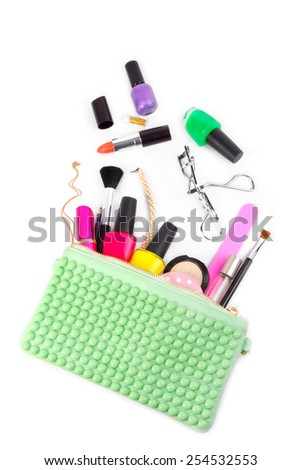 cosmetic set isolated on white