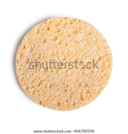 Cosmetic sponge isolated on white background