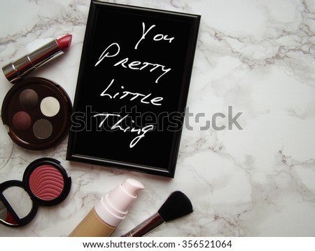 cosmetic table - stock photo