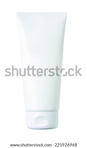Cosmetic tube isolated on white background