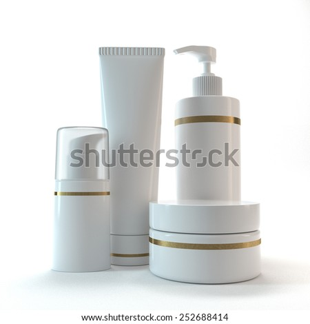 Cosmetic tubes - stock photo