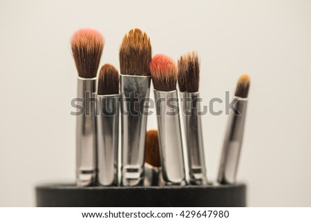 Cosmetics brush used.