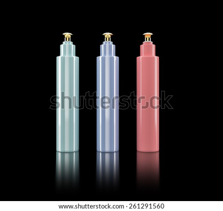 Cosmetics containers , packaging. High resolution. - stock photo