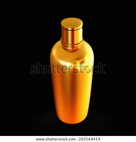 Cosmetics containers,  packaging isolated on black background . High resolution. - stock photo