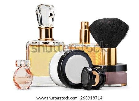 Cosmetics. Cosmetic Set. Perfume and Make-up - stock photo