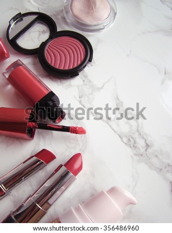 cosmetics, make up - stock photo