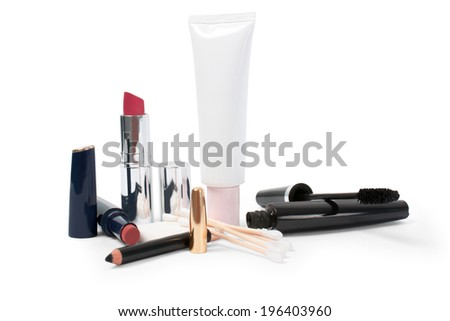 cosmetics on a white background isolated