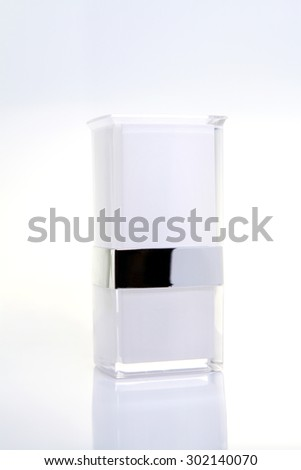 Cosmetics packages beauty products, Space for copy - stock photo