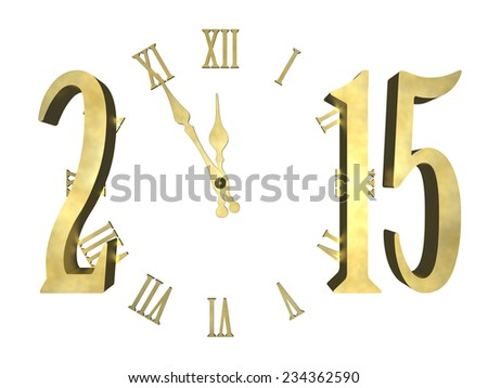 Cosmic clock and numbers 2015. Happy new year 2015 - concept - stock photo