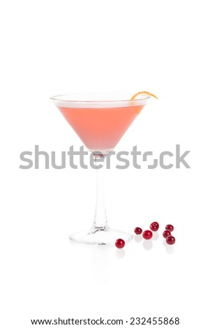 cosmopolitan cocktail - stock photo