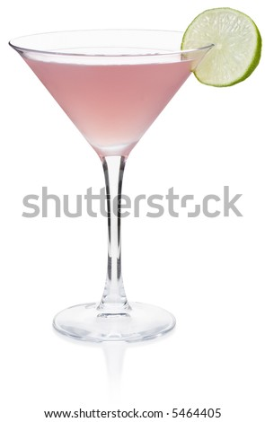 Cosmopolitan Cocktail - isolated on white - stock photo