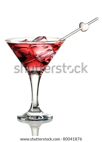 Cosmopolitan cocktail isolated on white