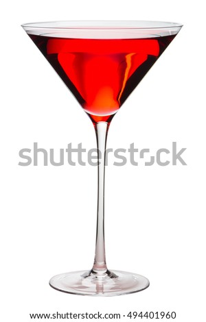 Cosmopolitan Cocktail isolated on white background