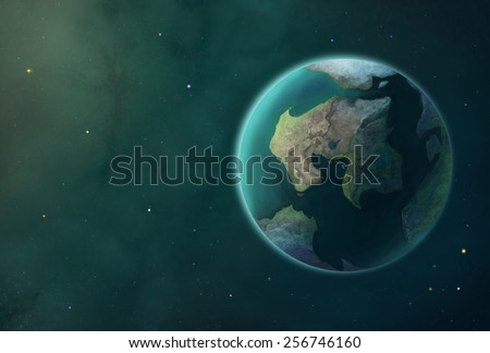 Cosmos Earth Planet - Scene Design - stock photo