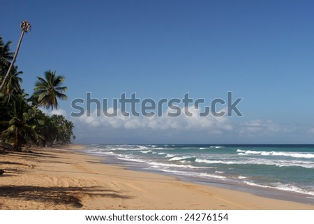 Coson beach, Las Terrenas, Samana peninsula, Dominican Republic