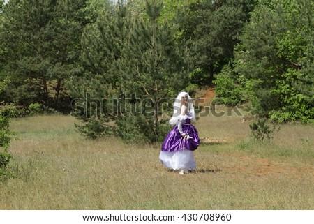 Cosplay scene / unicorn (Amalthea) - stock photo