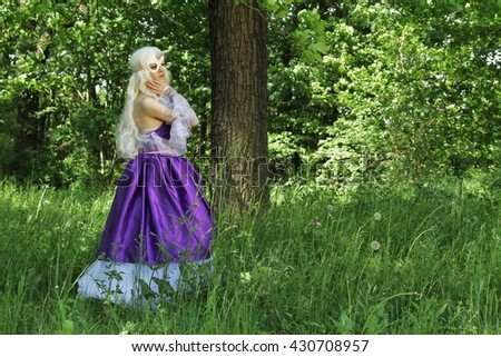 Cosplay scene / unicorn (Amalthea is hiding in the forest)