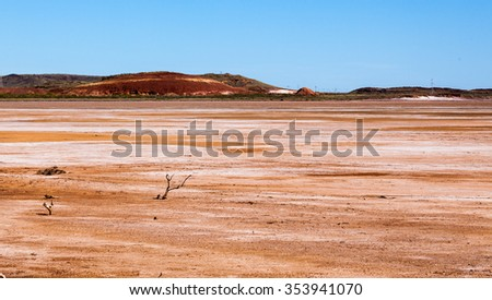 Cossack is an historic ghost town located near Roebourne in the Pilbara region of Western Australia.  Cossack is located on Butchers Inlet at the mouth of the Harding River. - stock photo