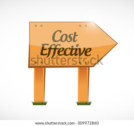 Cost effective wood sign concept illustration design graphic