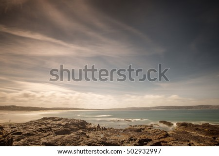 cost line of  Godrevy in cornwall england