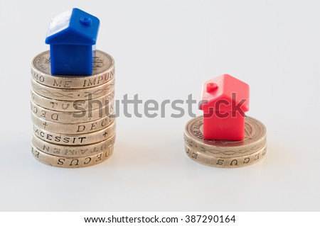 Cost of buying a house - stock photo