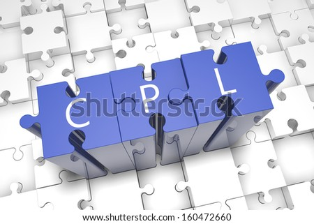 Cost per Lead - puzzle 3d render illustration