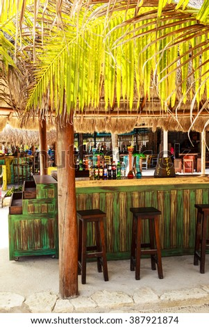 COSTA MAYA MEXICO JAN 30 2016:Costa Maya cruise ship terminal & resorts is a perfect place for visitor since many attractions awaiting. It's a perfect tropical paradise.    - stock photo