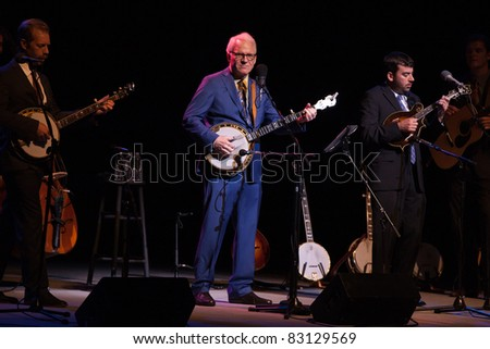COSTA MESA, CA - AUGUST 18: Steve Martin & the Steep Canyon Rangers play a sold out show at Segerstrom Hall on August 18, 2011 in Costa Mesa, California.