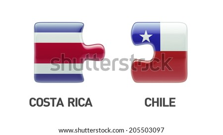 Costa Rica  Chile High Resolution Puzzle Concept