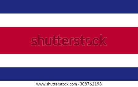 Costa Rica Flag - stock photo