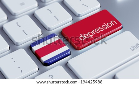 Costa Rica  High Resolution Depression Concept - stock photo