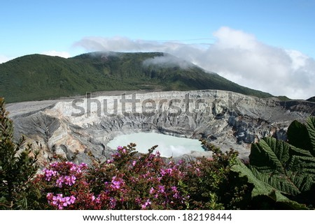 Costa Rica Volcano Poas - stock photo