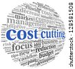 Costs cutting concept in word tag cloud - stock photo