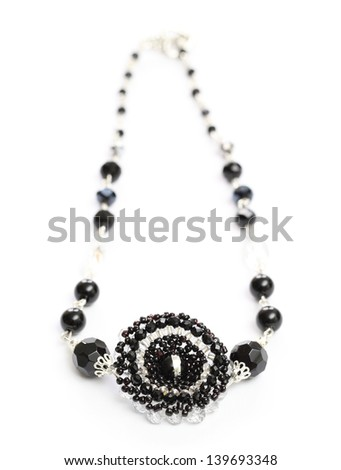 Costume Jewellery isolated on white background - stock photo