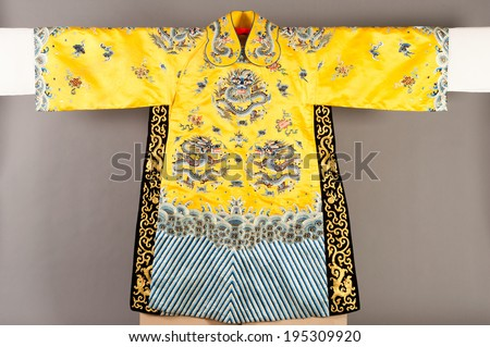 Costume of a chinese theatre - stock photo