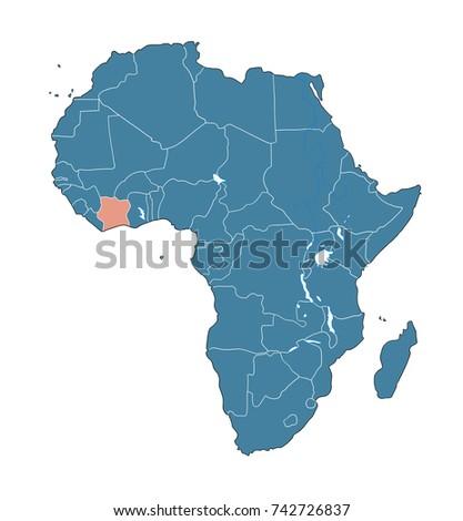 Cote Divoire Map Stock Images RoyaltyFree Images Vectors - Cote d'ivoire map