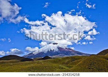 Cotopaxi National Park, volcano, Ecuador - stock photo