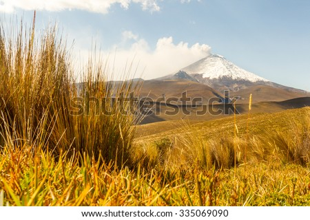 Cotopaxi Volcano 2015 Eruption Ground Level Shot - stock photo